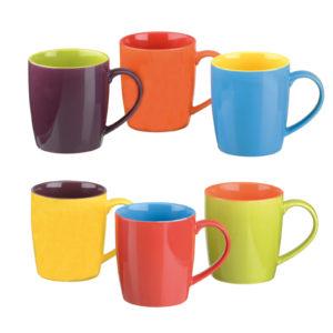 Set of 6 Harlequin Cappuccino Mugs