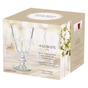 Set of 4 Pearl Ridge Wine Goblets