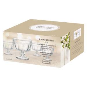 Set of 4 Pearl Ridge Mini Trifle Bowls