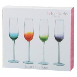 Set of 4 Fizz Champagne Flutes