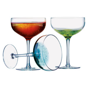Set of 4 Fizz Champagne Saucers