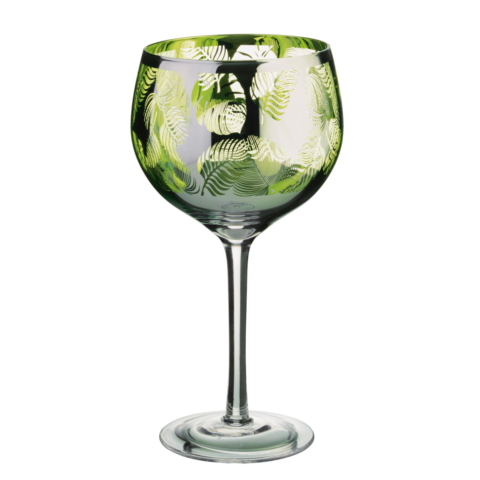 Tropical Leaves Gin Glass