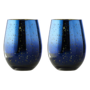 Set of 2 Galaxy Wine Glasses